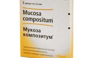 Мукоза композитум — все о гомеопатии